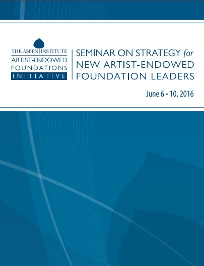2016 Course Booklet: Seminar on Strategy for AEF Leaders