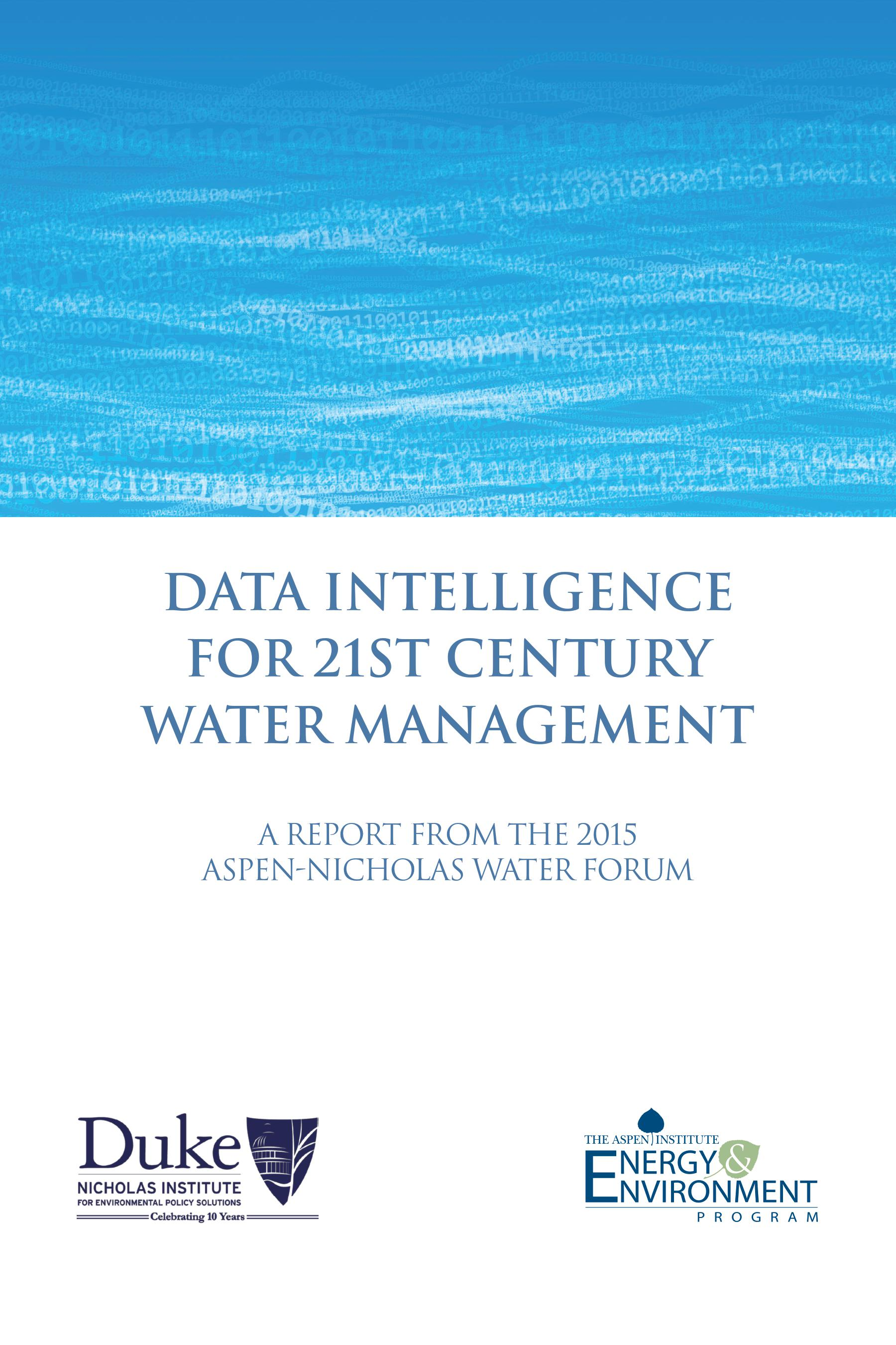 Data Intelligence for 21st Century Water Management