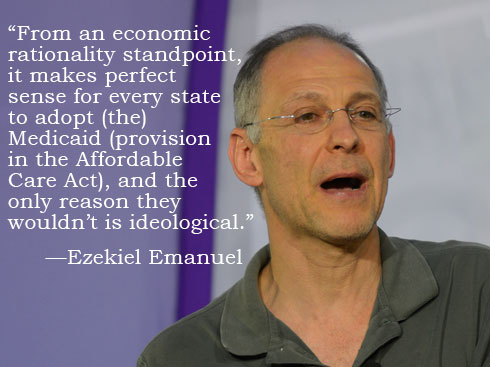 Ezekiel Emanuel on the Affordable Care Act